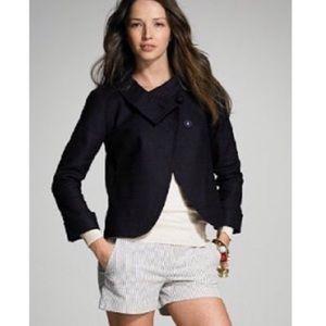 J. Crew Aubrey Ottoman Linen Jacket Size 12